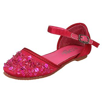 Girls Spot On Flat Shoes with Sequin Detail