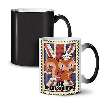 Der große Eichhörnchen neue schwarze Farbe wechselnden Tee Kaffee Keramik Becher 11 oz | Wellcoda