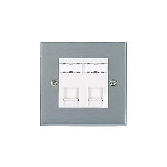 Hamilton Litestat Cheriton Victorian Satin Chrome 2g RJ12 Outlet-Unshield WH