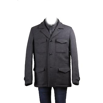 Fay men's NAM74290450 grey wool coat