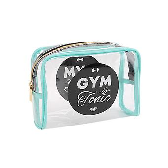CGB Giftware Gym And Tonic Clear Cosmetic Bag