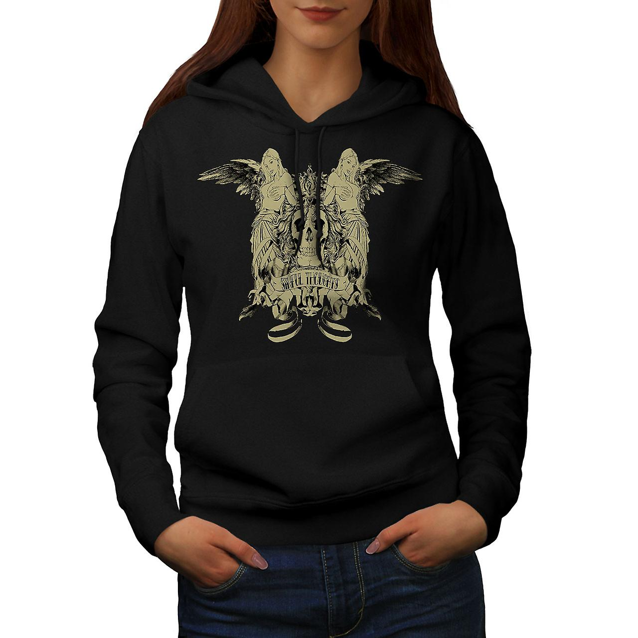 Sinful Thought Sexy Skull Women Black Hoodie | Wellcoda