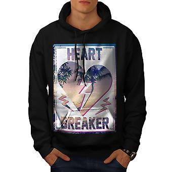 Heart Breaker View Men BlackHoodie | Wellcoda