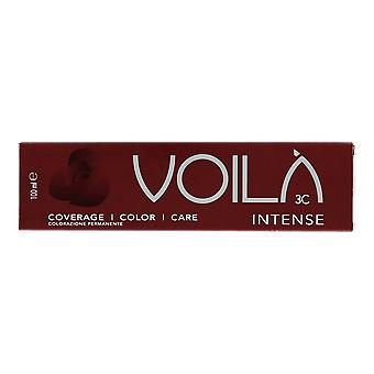 Intercosmo Voila Intense Light Brown Mahogany 5.55 Permanent Hair Colour 100ml