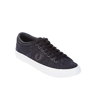 Fred Perry women's FPB824914102 black cloth of sneakers