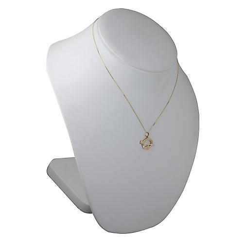 9ct Gold 16x23mm Tara Pendant with a curb Chain 18 inches Only Suitable for Children