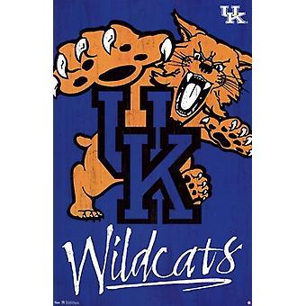 University of Kentucky - logotypen 13 affisch Skriv