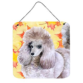 Carolines Treasures  BB9926DS66 Poodle Fall Wall or Door Hanging Prints