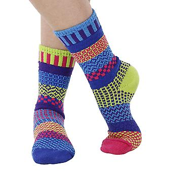Bluebell recycled cotton multicolour odd-socks | Crafted by Solmate