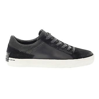 Crime London men's 11011A17B black leather of sneakers
