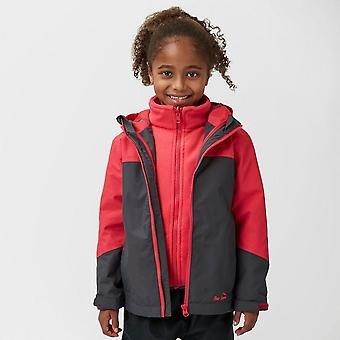 New Peter Storm Girl's Cloudburst 3-in-1 Jacket Dark Grey