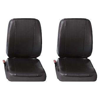 Two Single Commercial Leatherette Van Seat Covers Vauxhall Vivaro Van 2001-2014