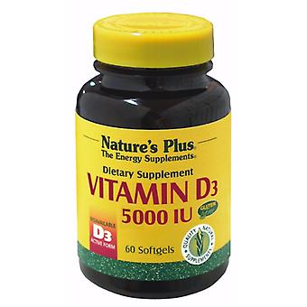 Natures Plus VITAMIN D3 5000 IU SOFTGELS 60
