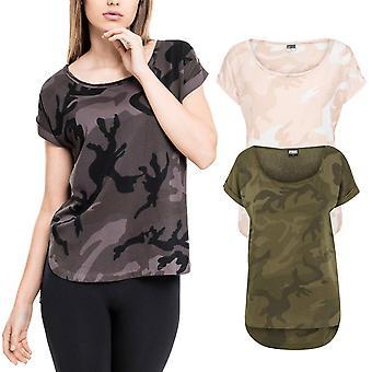 Urban classics ladies - Long Shaped HiLo top shirt camo