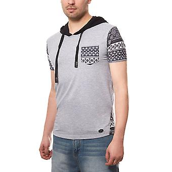 CIPO & BAXX hooded tee men's T-Shirt grey hooded