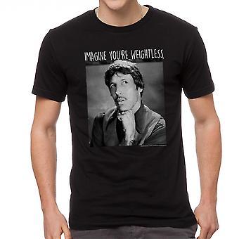 Napoleon Dynamite forestille sig vægtløs mænds sort Funny T-shirt