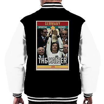 Sporting Legends Poster Germany Franz Beckenbauer The Kaiser 1945 Men's Varsity Jacket