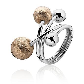 Orphelia plata 925 anillo 4 bolas Bicoloror ZR-3886