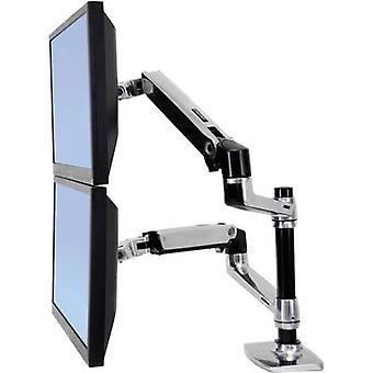 Ergotron 45-248-026 Lx 360° Rotating Dual Monitor Bracket, 15 to 24 9.1kg Black/silver