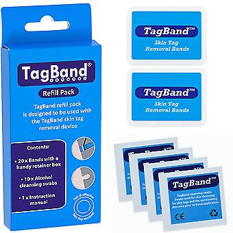 TagBand påfyll bandet Pack for hud Tag fjerning enhet