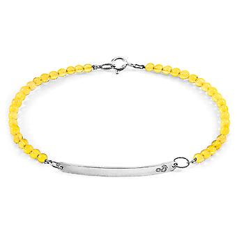 Yellow Amber Purity Silver and Stone Bracelet