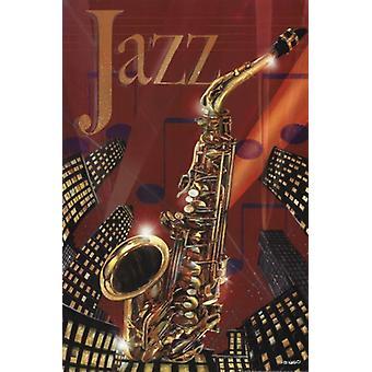 Impression affiche jazz par Ed Wargo (12 x 18)