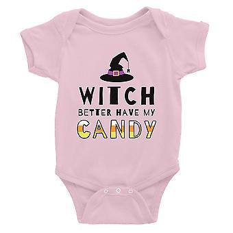 Heks beter hebben mijn Candy Baby Romper Gift roze