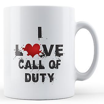 I Love Call Of Duty printed mug