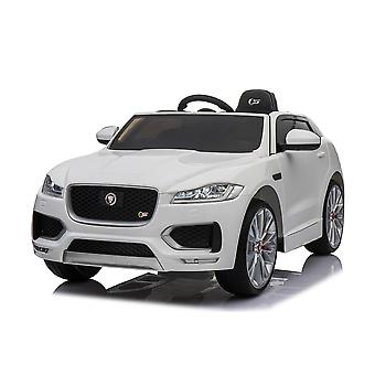 Licensed Jaguar F Pace 12V Kids Electric Ride On Car White