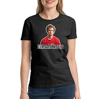 Napoleon Dynamite Red Shirt Skills Women's Black T-shirt