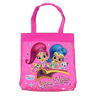 Shimmer and Shine pink tote bag