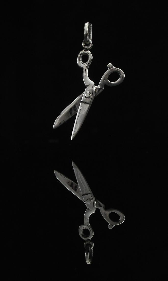 Sterling Silver Movable Scissors Pendant Shears