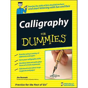 Caligrafía para Dummies por Jim Bennett - libro 9780470117712