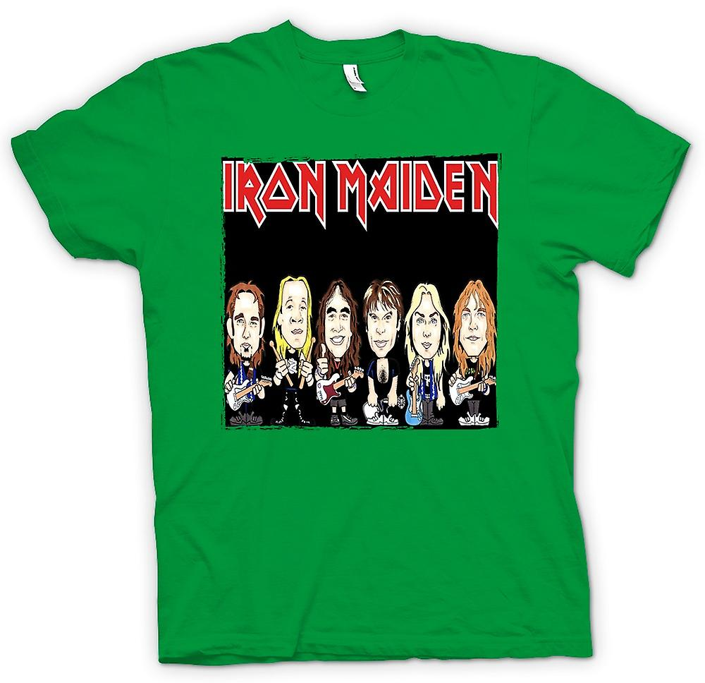 Hommes T-shirt - Iron Maiden - Cartoon Band