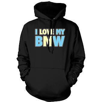 Mens Hoodie - I Love My BMW - Car Enthusiast