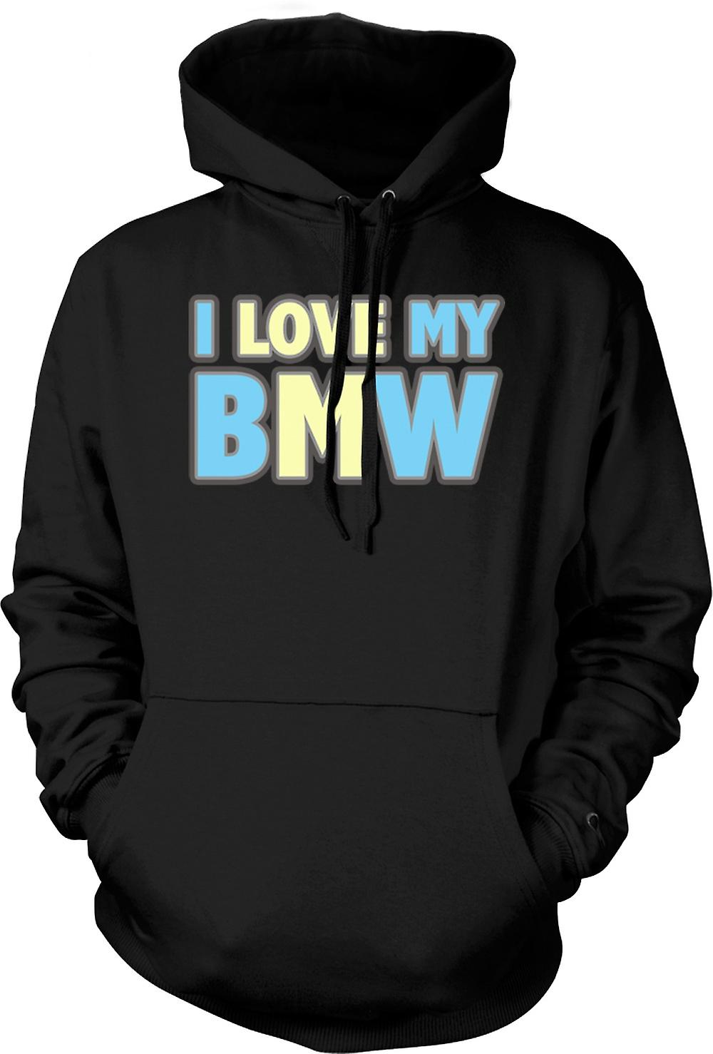 Mens Hoodie - Jag älskar min BMW - Car Enthusiast