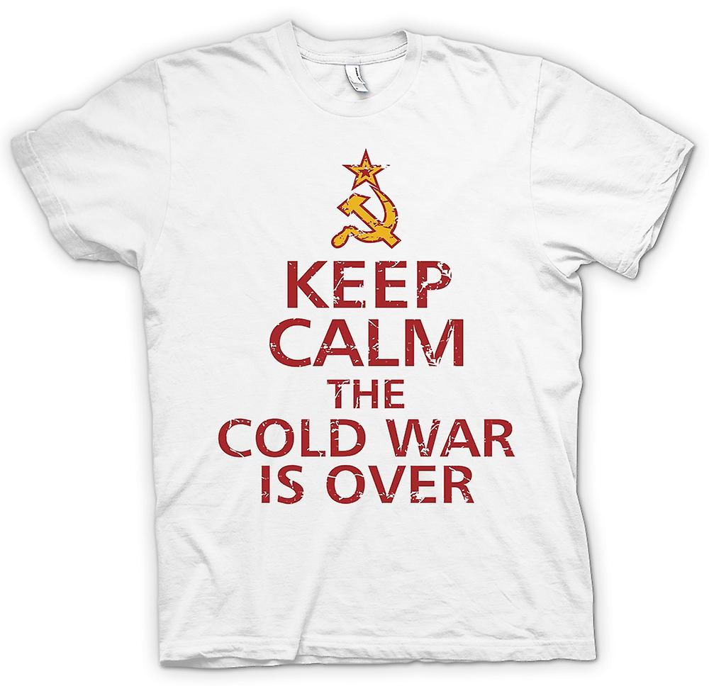 Mens T-shirt-Keep Calm The Cold War ist über