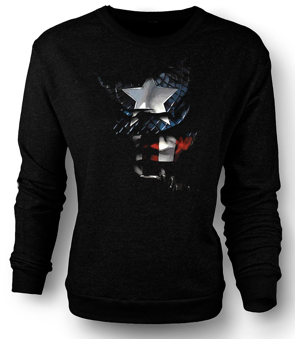 Heren Sweatshirt Captain America - geript Effect