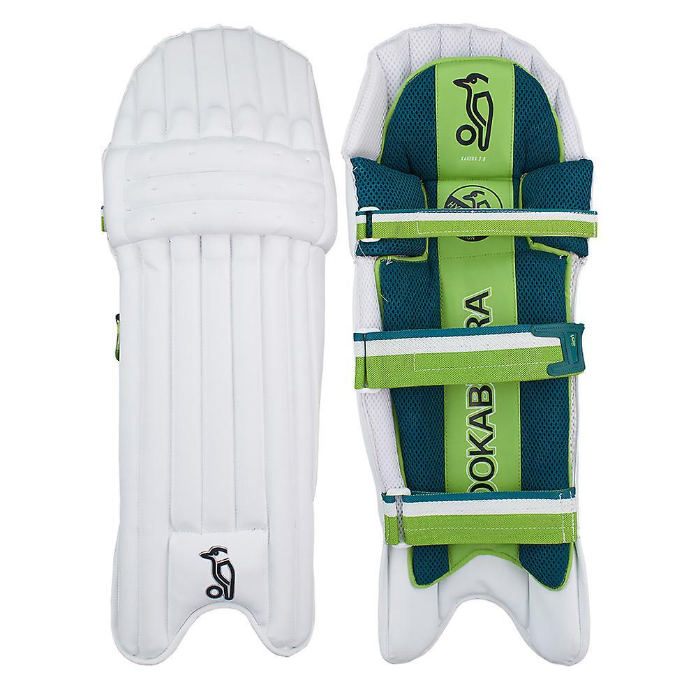 Kookaburra 2019 Kahuna 3.0 Cricket Batting Pads Leg Guards White/Green
