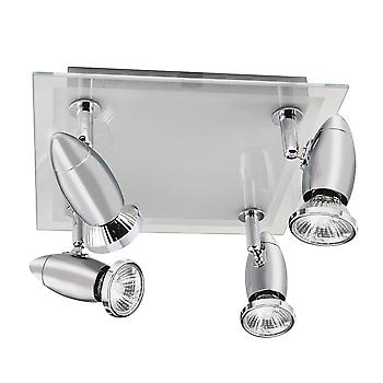 Searchlight 8764CC Halogen Chrome 4 Light Spotlight