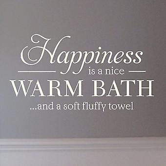 Bathroom wall art sticker