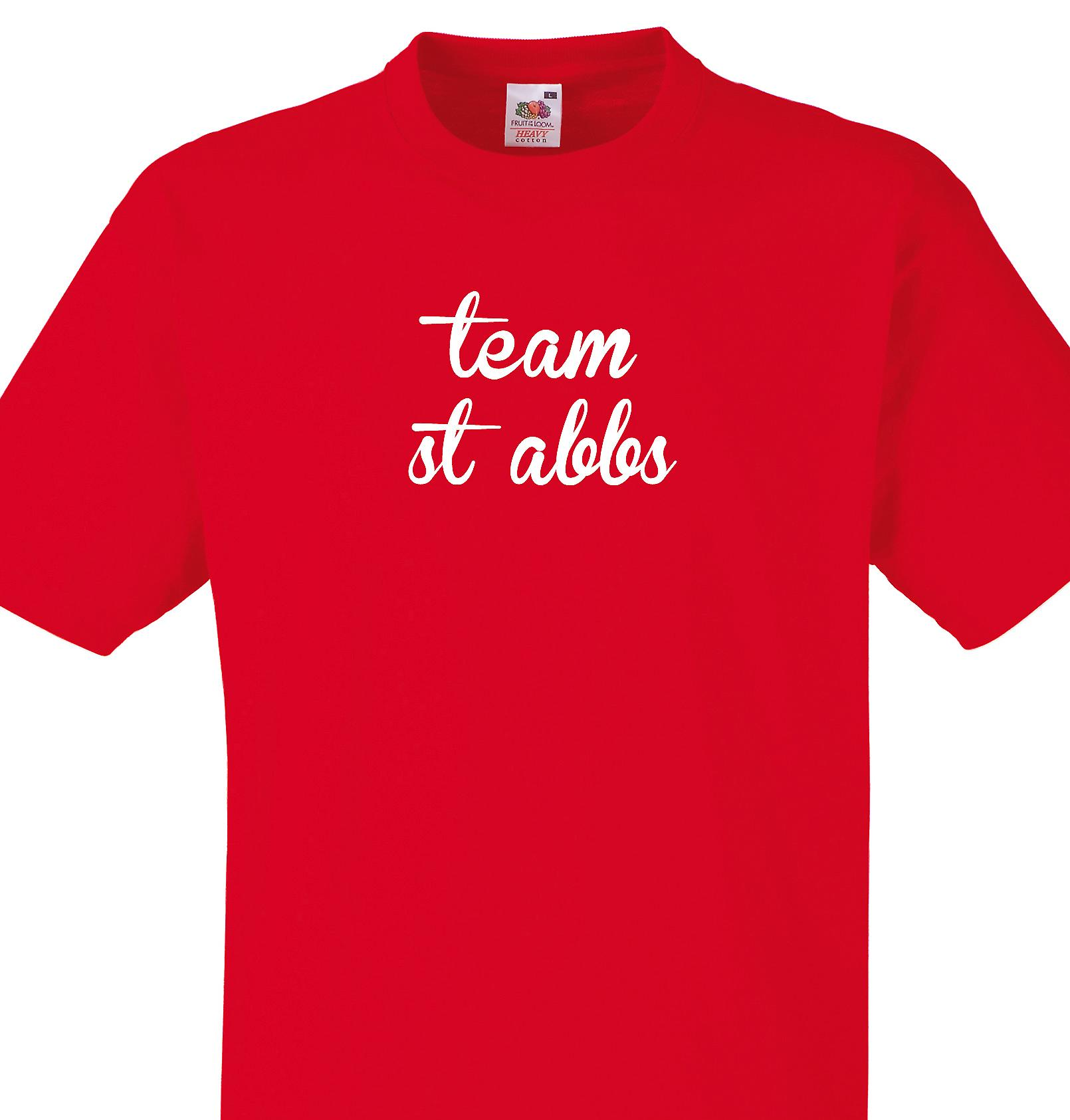 Team St abbs Red T shirt