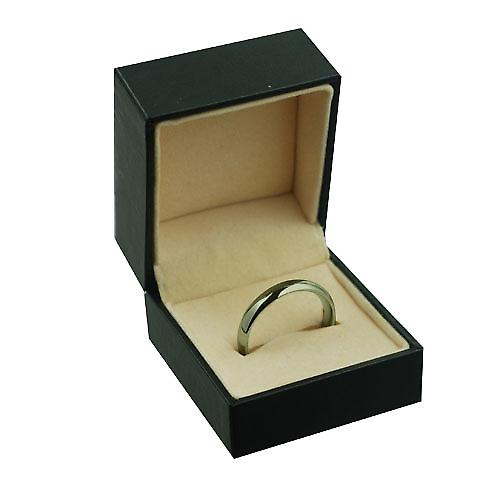 9ct Gold 4mm plain Court shaped Wedding Ring