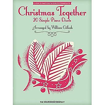 CHRISTMAS TOGETHER (GILLOCK WILLIAM) 1 PIANO 4 HANDS BOOK