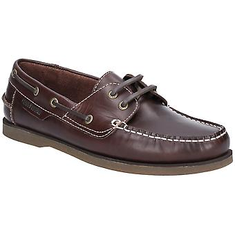 Hush Puppies Mens Henry Classic Lace Up Leather Boat Shoes