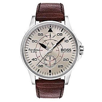 Męskie HUGO BOSS wybierania wielu kwarcowy zegarek ze skóry 1513516