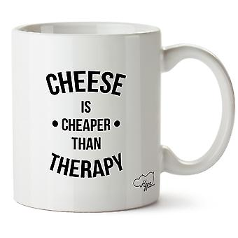 Hippowarehouse Cheese Is Cheaper Than Therapy Printed Mug Cup Ceramic 10oz