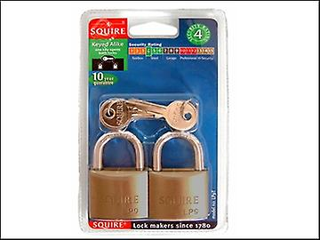 Henry Squire LP9T Leopard Brass Padlock 40mm Keyed (Card of 2)