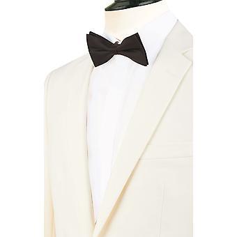 Dobell Mens hvit 2 stykke Dress vanlig passer hakk jakkeslaget middag passer sorte bukser