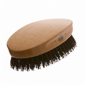 GB Kent Black Oval Military Hairbrush